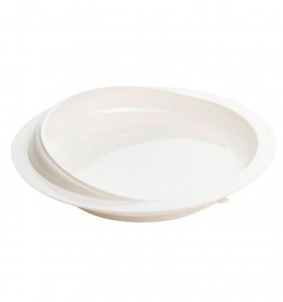 Assiette Rebord Blanc