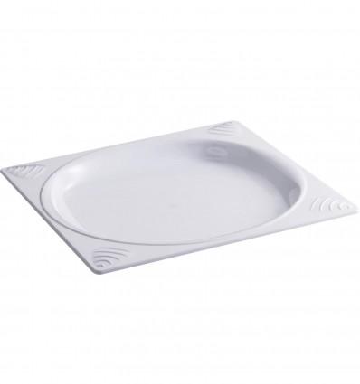 Assiette Carre Antiderapante Blanc [Ar]