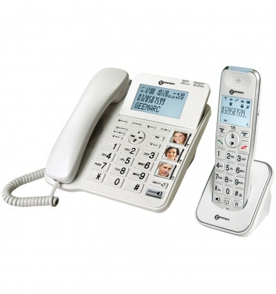 Telephone Filaire+Combine Amplidect 295