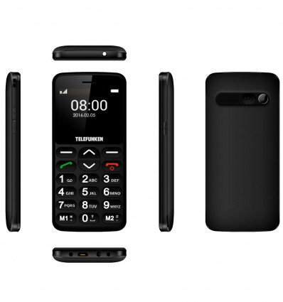 Telephone Portable Telefun Gsm Tm140 Noir