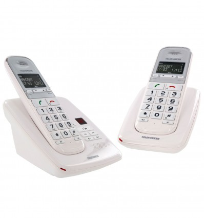 Telephone Duo Ss Fil Telefun Td352 Blanc