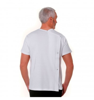 Tee Shirt Mixte Mc Ouvert Dos Press Blanc T1