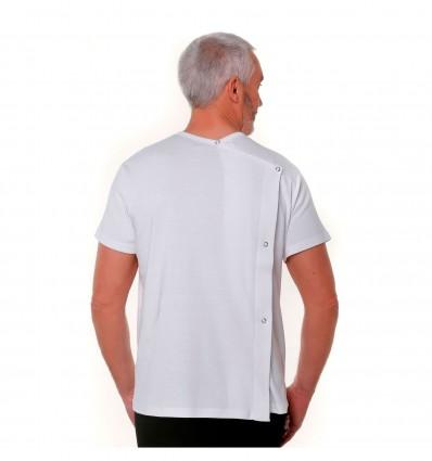 T-shirt mixte ouverture dos à pressions