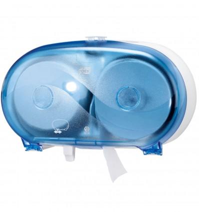 Distributeur Tork Double Roll Mid Size Polycarbonate Bleu