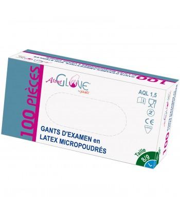 Boite Gant d'examen latex micropoudré ATOUT GLOVE by JOLETI