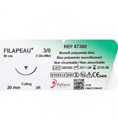 Suture Filapeau Dec0,5 Usp7/0 13Mm