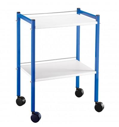 Gueridon 2 Plt 400X600Mm Epoxy Bleu