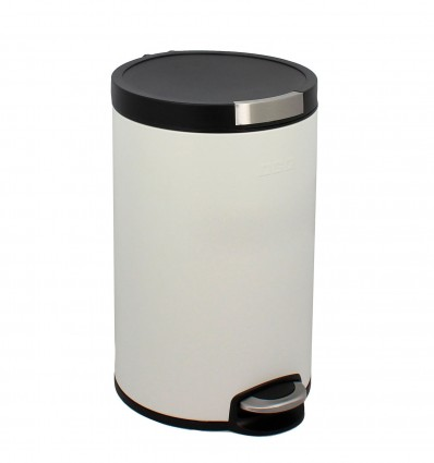 Poubelle cylindrique inox