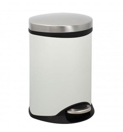 Poubelle Blanc Mat 6L Semi Cylind[Ar]