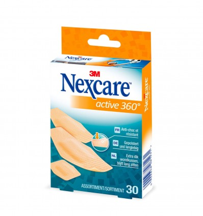 Pansement Nexcare Active 360° Bte 30 Assorti