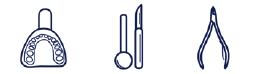 Les instruments chirurgicaux, médicaux et dentaires